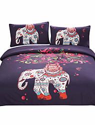 Bettbezug-Sets Neuartig 3 Stück Polyester / Baumwolle Reaktivdruck Polyester / Baumwolle 3-teilig (1 Bettbezug, 2 Kissenbezüge)