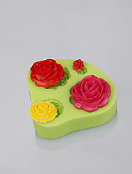Rose Mold For Silicone Use Kitchen For Fondant Cake Decoration Chocolate Mold Candy Tools Ramdon Color