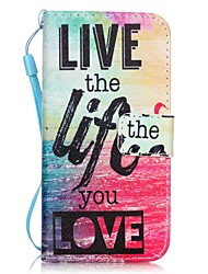 cheap -Love Life Pattern Material PU Card Holder Leather for  iPhone 7 7 Plus 6s 6 Plus SE 5s 5 5C 4S