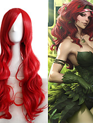 cheap -Synthetic Wig Body Wave Red Women's Carnival Wig Halloween Wig Cosplay Wig Long Very Long Synthetic Hair