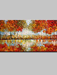 cheap -Large Size Hand Painted Modern Abstract Mangrove Oil Paintings On Canvas Wall Art With Stretched Frame Ready To Hang
