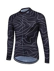Fastcute Maillot de Cyclisme Homme Femme Enfant Unisexe Manches Longues Vélo Shirt Maillot Hauts/Tops Garder au chaud Séchage rapide Zip