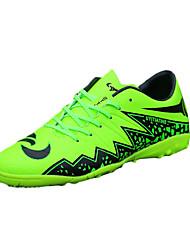 Masculino-Tênis-Conforto-Rasteiro-Verde Cinza-Couro Ecológico-Para Esporte