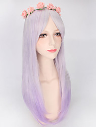 cheap -Highlight Purple Ombre Two Tone Lolita Fashion Daily Weaing Natural Looking Hight Quality Synthetic Wigs Girls Gift