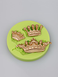 New Arrival imperial crown shaped 3D silicone cake fondant mold cake decoration tools Color Random