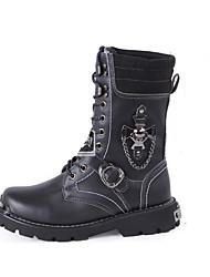 cheap -Men's Riding Boots Cowhide Fall / Winter Riding Boots Boots Trail Running Shoe / Cycling Shoes Black / Brown