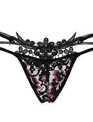 cheap -Women's Cotton G-strings & Thongs Panties Solid Colored