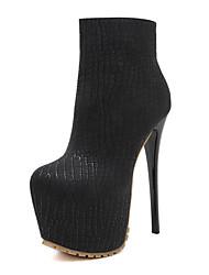 Da donna-Stivaletti-Formale Casual Serata e festa-Plateau Light Up Shoes Stivaletto Stivali Club Shoes-A stiletto-PU (Poliuretano)-Nero