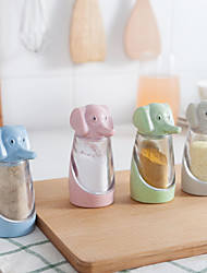 cheap -Condiment Dispenser Seasoning Box  Baby elephant Elephant Wheat Straw Green Plastic Products (Random Colour)