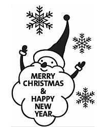 2016 Cute Snowman Snowflake Christmas Showcase Window Glass Sticker Xmas Christmas Party Decoration Store Wallpaper