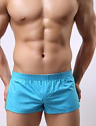 Masculino Cueca Boxer Masculino Algodão