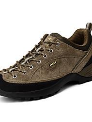 Da uomo Sneakers Comoda PU (Poliuretano) Primavera Autunno Escursionismo Comoda Lacci Piatto Blu scuro Grigio Cachi Piatto