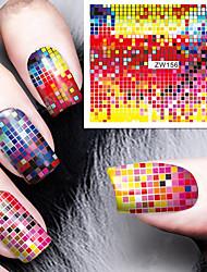 preiswerte -Mode Druckmuster Farbe Fokus Wassertransferdruck Nagelaufkleber