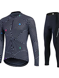 cheap -Fastcute Cycling Jersey with Tights Men's Women's Unisex Long Sleeves Bike Tracksuit Jersey Tights Top Clothing Suits Bottoms Bike Wear