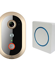 cheap -LEKEMI WiFi Video Doorbell with HD 720P PIR sensor 8G memory Indoor Speaker Wide-angle Lens and Night Vision