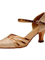 Women's Dance Shoes Sparkling Glitter Latin / Modern Sandals / Heels Heel Professional / Indoor Customizable