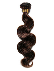Недорогие -Индийские волосы Естественные кудри 8A Натуральные волосы Precolored ткет волос Ткет человеческих волос Расширения человеческих волос