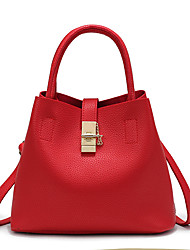 Donna Sacchetti Per tutte le stagioni PU (Poliuretano) Borsa a tracolla per Casual Nero Rosso Rosa
