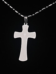 cheap -Stainless Steel Bible Text Pendant Cross Necklace Prayers Necklaces Men Jewelry Silver