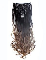 Недорогие -На клипсе синтетический Наращивание волос 130 Наращивание волос