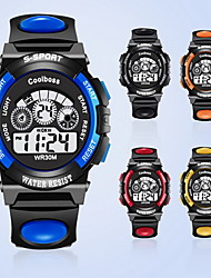 Муж. Дети Модные часы электронные часы Цифровой / PU Группа Повседневная Черный