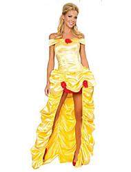 Princesse Costumes de Cosplay Halloween Fête / Célébration Déguisement d'Halloween Jaune doré Couleur Pleine