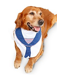 Fashion Navy Style Saliva Towel for Large Pets Dogs Sailing Dog Scarf Clothes Pet Bandana for Extra Large Dog