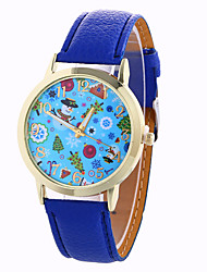 cheap -Fashion Girl Quartz Watch Clock Women Leather Casual Dress Women's Christmas Wristwatch Cool Watches Unique Watches