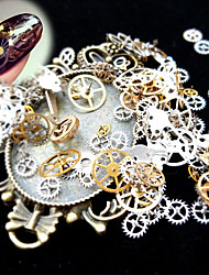 cheap -1 Box 3D Nail Art Metal Decoration Ultra-thin Time Wheel Steam DIY Punk Style