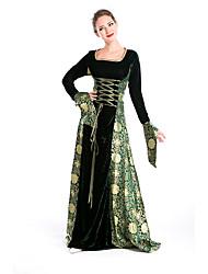 abordables -Cosplay Costumes de Cosplay Costume de Soirée Féminin Halloween Fête / Célébration Déguisement d'Halloween Vert/noir. Imprimé