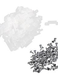 KWB 100-pack translucidez silicone suporte de montagem para tira luzes LED