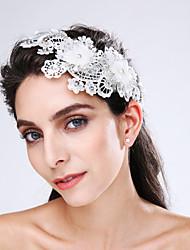 Tulle Imitation Pearl Lace Acrylic Flowers Headpiece