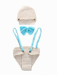 Fashion Baby Acrylic Casual/Daily Hoodie Sleepwear Rompers(BOW/Hat/Pants Sets)