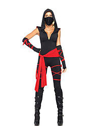 cheap -Soldier/Warrior Movie/TV Theme Costumes Zentai Suits Women's Halloween Festival / Holiday Halloween Costumes Black Patchwork