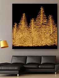 E-HOME® Stretched LED Canvas Print Art Christmas Tree Christmas Series LED Flashing Optical Fiber Print One Pcs