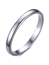 cheap -Unisex's Fashion Simple Generous Tungsten Steel High Polished   Band Rings(1Pc)