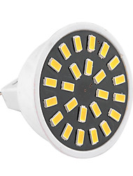 cheap -GU5.3(MR16) LED Spotlight MR16 24 SMD 5733 400-500 lm Warm White Cold White 2800-3200/6000-6500 K Decorative AC 220-240 AC 110-130 V