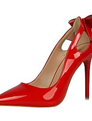 Women's Heels Winter Comfort  Dress Stiletto Heel Bowknot Black / Pink / Red / White / Gray / Nude Walking