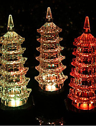 cheap -Colorful Exquisite Crystal Pagoda Led Night Light Flash Gifts
