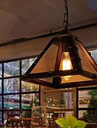 Retro Modern Minimalist Restaurant Single Head Iron Triangle Bar Light Chandelier Warehouse
