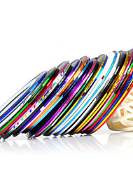 cheap -10pcs/set Mixed Colors Rolls Striping Tape Line Metallic Yarn Line Nail Art Decoration Sticker