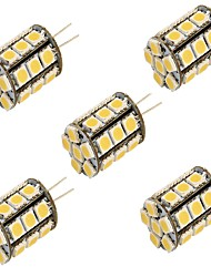 cheap -YouOKLight 5pcs 3000/6000 lm G4 LED Bi-pin Lights T 27 leds SMD 5050 Decorative Warm White Cold White DC 12V