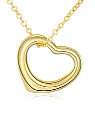 cheap -Women's AAA Cubic Zirconia Pendant Necklace / Chain Necklace  -  Zircon, Rhinestone, Gold Plated Friends, Heart, Love Personalized, Geometric, Unique Design Gold Necklace For Christmas Gifts, Party
