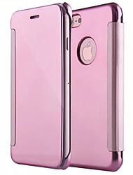 cheap -Case For Apple iPhone X iPhone 8 Mirror Flip Full Body Cases Solid Color Hard PC for iPhone X iPhone 8 Plus iPhone 8 iPhone 7 Plus iPhone