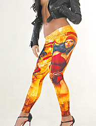 Women Print Legging,Polyester Spandex