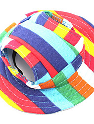 abordables -Chien Bandanas & Chapeaux Vêtements pour Chien Rayure Arc-en-ciel Coton Costume Pour les animaux domestiques Homme Femme Décontracté /