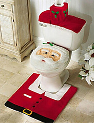 cheap -Merry Christmas And Happy New year Best Christmas Gift & Christmas Decorations Bathroom Toilet Seat Carpet