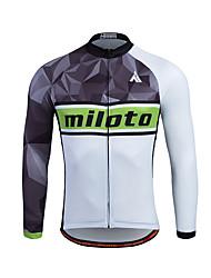 Miloto Camisa para Ciclismo Homens Manga Longa Moto Pulôver Camisa/Roupas Para Esporte Blusas Térmico/Quente Secagem Rápida Zíper Frontal