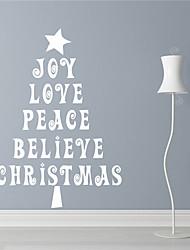 abordables -Navidad / Día Festivo Pegatinas de pared Calcomanías de Aviones para Pared Calcomanías Decorativas de Pared,PVC Material Removible