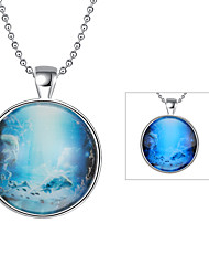 cheap -Cremation Jewelry Magical Glow in The Dark 925 Sterling Silver Luminous Constellation Pendant Necklace